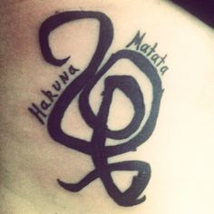 "My tattoo that I'm getting minus the ""Hakuna Matata"" writing. It is the swahili symbol meaning ""no worries"" which has been my life motto my whole life!"