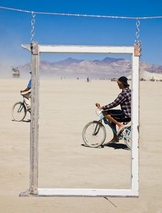 #Biking around the playa...#BurningMan. from #treyratcliff at http://www.StuckInCustoms.com - all images Creative Commons Noncommercial