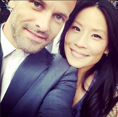 better-with-you-watson:  August 2nd 2014 - JLM & Lucy Liu