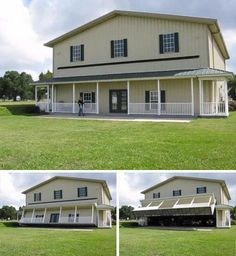 From Facebook - Hangar Home Revisited Drive-In, BoatUp & FlyOut Facade. Beautiful toy storage!
