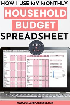 I will show you how I use my monthly household budget spreadsheet. This article will explain how to budget and give you tips for creating a budget. I also show you how I use my yearly household excel budget template. Household Budget Spreadsheet, Monthly Budget, Online Budget Planner, Household Binder, Monthly Expenses, Making A Budget, Create A Budget, Budget Help, Budgeting Finances