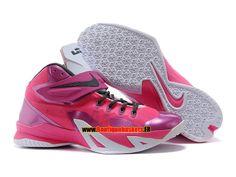 reputable site b3c41 6a500 Nike zoom lebron soldier 8 viii ae - chaussure de basket-ball pas cher pour  homme blanc noir-rouge 653642-600