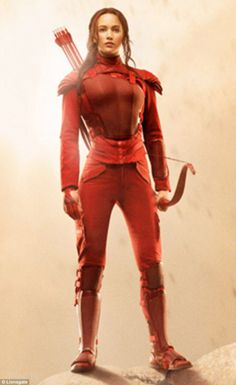 Inspiration: Lawrence as Katniss Everdeen, wearing her red Mockingjay outfit Hunger Games Movies, The Hunger Games, Hunger Games Catching Fire, Hunger Games Trilogy, Katniss Everdeen, Katniss And Peeta, Tribute Von Panem, I Volunteer As Tribute, Jenifer Lawrence