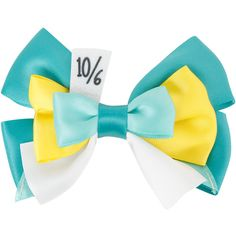 Disney Alice In Wonderland Mad Hatter Cosplay Bow | Hot Topic ($6.50) ❤ liked on Polyvore featuring accessories, hair accessories, disney, disney hair accessories, barrette hair clips, bow hair clip and hair clip accessories