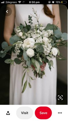 120 greenery wedding bouquets page 12 Cascading Wedding Bouquets, Bridal Bouquet Fall, Bride Bouquets, Flower Bouquet Wedding, Bridesmaid Bouquets, Bridesmaid Ideas, Brooch Bouquets, Bridal Flowers, Lace Flowers