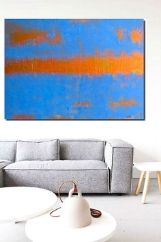 bronze gold artwork blue art teal blue painting abstract art