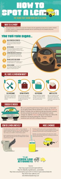 How To Spot A Lemon  #Infographic #HowTo #Cars