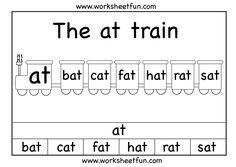 at word family First Grade Math Worksheets, Phonics Worksheets, Kindergarten Worksheets, Printable Worksheets, Reading Worksheets, Preschool Activities, Kindergarten Centers, Preschool Printables, Free Printables