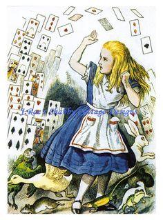 alice in wonderland original illustrations color - Google Search
