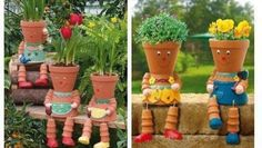 planter people make adorable, functional yard decor. CUTE !