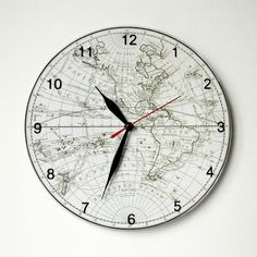 A wall clock with old soviet scale d 25 cm the clocks the clock with the ancient world map d 25 cm gumiabroncs Gallery