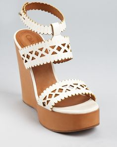 Chloé Wedges I NEED IT!! (a la Spongebob without water)