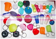 Tupperware keychains! Love, Love, Love!  I have several of them and I still think they are absolutely adorable!!!  :)