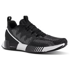 Reebok Females Fusion Flexweave™ in Black / Ash Grey / Primal Red / White Size 9 - Lifestyle Shoes Black Reebok, New Reebok, Running Sneakers, Running Shoes, Adidas Sneakers, Sweat It Out, Running Women, Comfortable Shoes, Shoes Online
