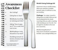 Mindful Eating Challenge #10