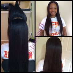 Versitile sew in. Two way sew in. Middle part, half up half down. By GinaB