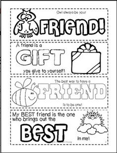 Classroom Freebies: Friendship Printable Bookmarks for Valentine's Day!