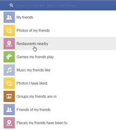 graph search categories. How to Optimize Your Facebook Page for Facebook Graph Search. Good to know!