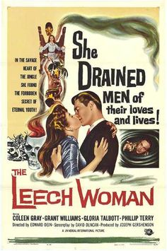 Vintage movie poster, The Leech Woman