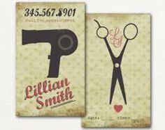 hairdressing business cards - Google Search