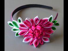 Tiara com flor diferente Passo a Passo | Cantinho do Video