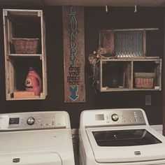 What a great way to update your laundry space or any other place you want to change up. If you need a different size than these keep in mind I can make them to fit your needs. **All items are one of a Crate Shelves, Crate Storage, Landry Room, Home Organization, Organizing, Up House, Getting Organized, Pallets, Home Projects