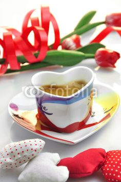 valentine - cup of coffee with cloth hearts - Acquista questa foto stock ed esplora foto simili in Adobe Stock Coffee Heart, Coffee Love, Black Coffee, Coffee Cups, Tea Cups, My Favorite Food, Favorite Recipes, My Favorite Things, I Love Food