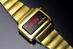 Omega 1602 Constellation (Gold-Filled) Digital Watch, Constellations, Omega, Wristwatches, Led, Vintage, Star Constellations, Vintage Comics