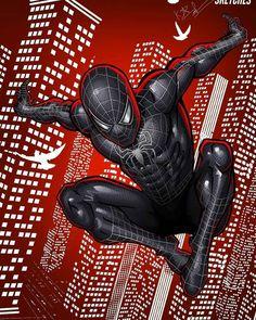Spiderman Sam Raimi, Spiderman Venom, Black Spiderman, Spiderman Art, Amazing Spiderman, Batman, Marvel Comic Universe, Marvel Art, Ms Marvel
