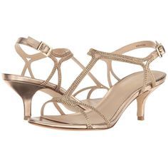 Pelle Moda Abbie 2 (Platinum Gold) Women's Shoes ($125) ❤ liked on Polyvore featuring shoes, sandals, gold t strap sandals, buckle strap sandals, t-bar shoes, platinum shoes and open toe shoes