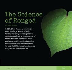 The science of rongoā Chris Ryan, Bus Driver, Science Fair, High School Students, Investigations, Biology, Medicine, Teaching, Traditional