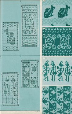 Pattern Library for Punch Card Knitters 1973 33 — Yandex. Knitting Charts, Knitting Stitches, Knitting Designs, Knitting Patterns, Crochet Patterns, Crochet Cross, Crochet Chart, Fair Isle Pattern, Pattern Library