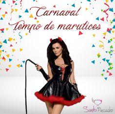 Meninas o Carnaval está ai a Porta! E nós continuamos com a promoção nas fantasias -20% desconto! Estão à espera do que para aproveitar a desculpa do Carnaval para fazer uma marutice ao vosso mais que tudo???