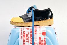 sander wassink cuts and re-edits shoes into new footwear