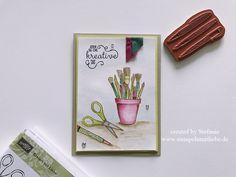 Stampin Up - Karte - Card -  Stempelset Kreiert mit Liebe - In Color 2017-2019 - Sommerbeere - Limette - Meeresgrün - Jeden Tag eine kreative Tat♥ StempelnmitLiebe