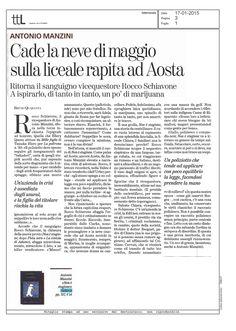 Davvero bella la recensione su ttL del romanzo di Antonio Manzini 'Non è stagione' firmata da Bruno Quaranta...