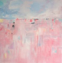 Pink Abstract Print Giclee Print Abstract Painting by Artzaro