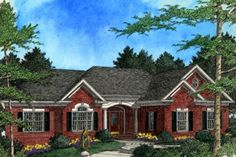 House Plan 56-177-love the idea of a hearth room