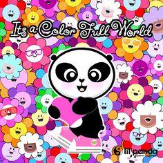 lil'panda color full world #panda #happy #kawaii www.lilpanda.com