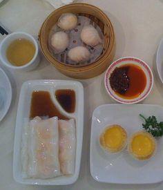 Lido Prawn Cheung Fun, Har gau (prawn dumplings), Egg tarts