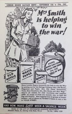 Salvage Wins The War - WWII poster