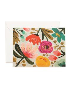 Graphic Design - Graphic Design Ideas - Gold Floral Thank You Card by Rifle Paper Co. Graphic Design Ideas : – Picture : – Description Gold Floral Thank You Card by Rifle Paper Co. Thanks Greetings, Thanks Card, Thank You Note Cards, Anna Bond, Rifle Paper Company, Guache, Motif Floral, Floral Patterns, Floral Designs