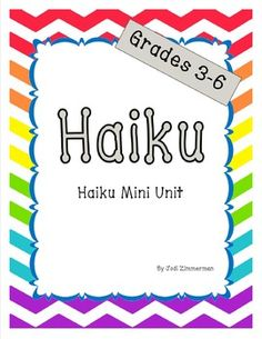 "This Haiku mini unit is a great resource for teaching the format for writing haiku poems as well as giving strategies for following the set format. It includes an anchor chart to support instruction and help students visualize and review the format.  A final draft printable is included which can also be used to display student poems on a bulletin board.Included in the mini unit:- Anchor chart- Haiku examples- ""How to"" page- Syllable practice- Haiku practice- Final draft page- Grading…"