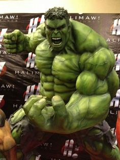 Incredible Hulk Avengers Scale Halimaw Sculpture Custom Statue Made to Order Mehr Hulk Marvel, Hulk Avengers, Marvel Dc Comics, Marvel Heroes, Spiderman, Comic Book Characters, Comic Book Heroes, Marvel Characters, Comic Character