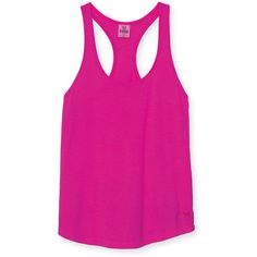 Slouchy Racerback ($18) ❤ liked on Polyvore featuring tops, shirts, tank tops, tanks, pink, tanks and tees, activewear, racerback, lounge and vs pink