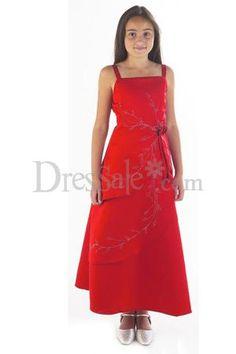 David&-39-s Bridal JB4935 Size 16 Apple Red Junior Bridesmaid Dress ...