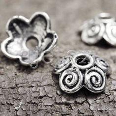 100-wholesale-Tibetan-Silver-Flower-Bead-End-Caps-TS993