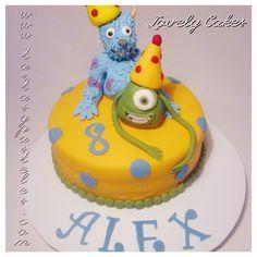 Tarta Monstruos S.A. cumpleaños
