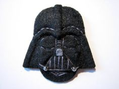 Star Wars Darth Vader Felt Brooch/Pin di ClockworkFishDesign, $13.90