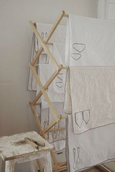 clean contemporary linen tea towels
